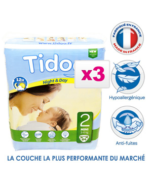 Tidoo Jumbo de 3 x 64 Couches MINI (T2)   3/6kg
