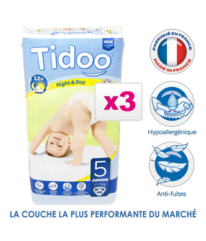 Tidoo Jumbo de 3 X 46 couches Taille 5 : Junior 11 25Kg
