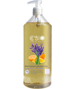 C'bio Shampooing douche Orange Lavande 1L