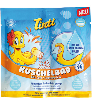 Tinti Bain calin au parfum fruité d'Orange