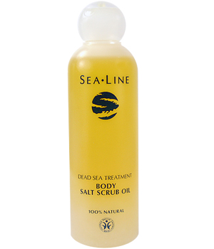 Sealine Salt scrub Oil Huile exfoliante Mer Morte 200ml