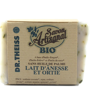 Dr.Theiss Savon Lait d'Anesse Ortie artisanal 120g