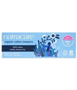 Natracare 20 Tampons super plus sans applicateur en coton bio