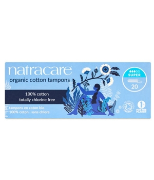 Natracare 20 Tampons super sans applicateur en coton bio