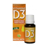 Phyto-Actif Vitamine D3 Flacon compte gouttes 15ml