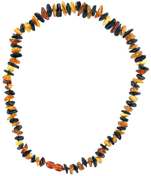 La boutique de L'Ambre Collier d'ambre chips adulte Multicolor