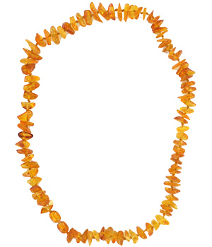 La boutique de L'Ambre Collier d'ambre chips adulte Miel
