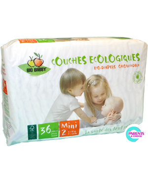 Bio Babby 36 couches Mini 3 à 6kg
