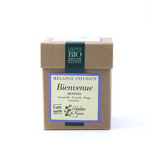 Herbier De France Bienvenue infusion détente 15 mousselines, 30g