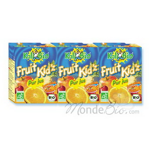 Kalibio Fruit Kid'z Cocktail Fruits jaunes Tetra 3 briquettes de 20cl