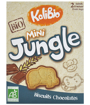 Kalibio Biscuit Mini jungle 2 sachets x 80g