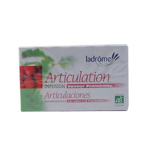 Ladrome Infusion Articulation saveur Framboise 20 sachets 30g