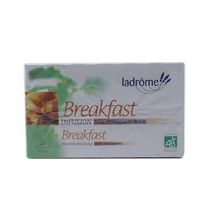 Ladrome Infusion Breakfast au Gingembre 20 sachets 30g