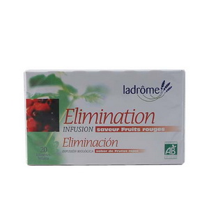 Ladrome Infusion Elimination saveur Fruits rouges 20 sachets 30g
