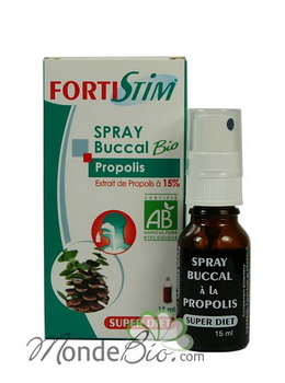 SuperDiet Spray buccal Fortistim à la Propolis 15ml