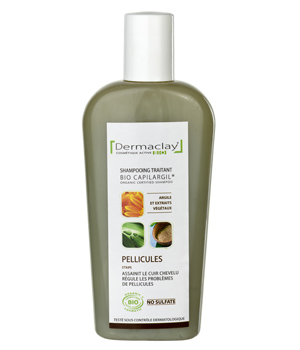 Dermaclay  Shampoing Anti Pelliculaire Argile verte Cade Romarin 250ml