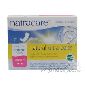 Natracare 12 Serviettes ultra super plus sans ailettes