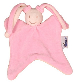 Keptin jr Doudou Lapin rose Girly Pink 18 cm