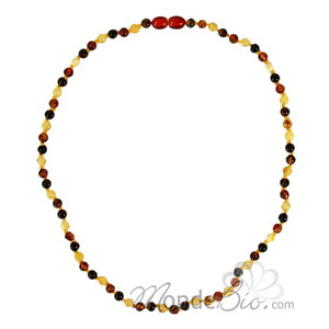 La boutique de L'Ambre Collier d'ambre perles adulte Multicolor