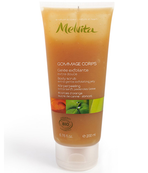 Melvita Gommage corps extra doux Orange, sucre de Canne 200ml