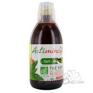 SuperDiet Actimincyl boisson Queue de Cerise Elimination Goût fruits rouges 480ml