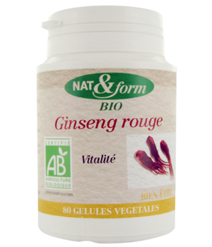 Nat et Form Ginseng rouge 80 gélules 250mg