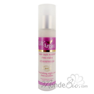 Lift' Argan Soin de nuit hydratant nutritif anti rides Lift'Argan Bio 50ml