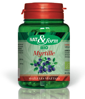 Nat et Form Myrtille 80 gélules 250mg