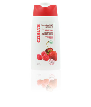Coslys Shampoing douche Vitaminé aux Fruits Rouges 250ml