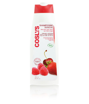 Coslys Shampoing douche Vitaminé aux Fruits Rouges 750ml