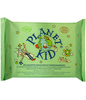 Planet Kid 40 Lingettes Enfants Amande Douce Hamamélis