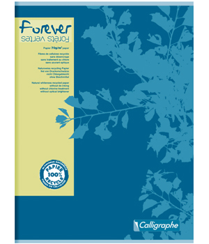 Ecoburo Grand Cahier Forever piqué Seyes grands carreaux 24x32  96 pages