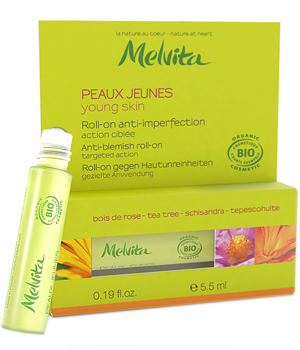 Melvita Roll on anti imperfection Bois de Rose Tea Tree peaux jeunes 5.5ml