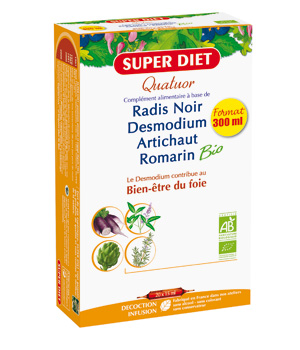 SuperDiet Quatuor Desmodium Digestion Bio 20 ampoules de 15ml