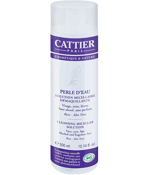 Cattier Perle d'eau solution micellaire démaquillante sans alcool sans parfum Rose Aloe 300ml