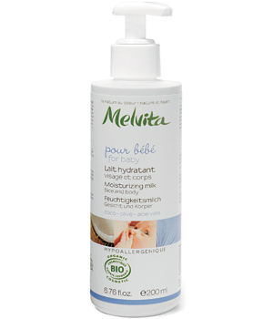 Face and body moisturising milk for baby with Coconut, Olive and Aloe Vera