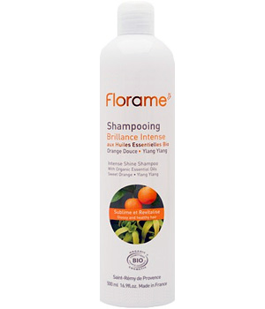 Florame Shampoing brillance intense Orange douce, Ylang Ylang 250ml
