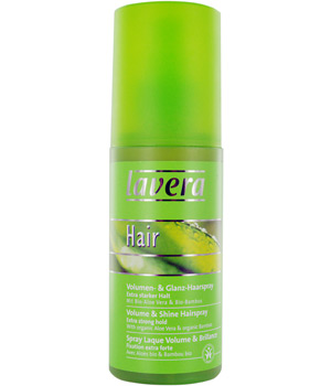 Lavera Laque volume et brillance fixation extra forte Aloe vera Bambou bio 150ml