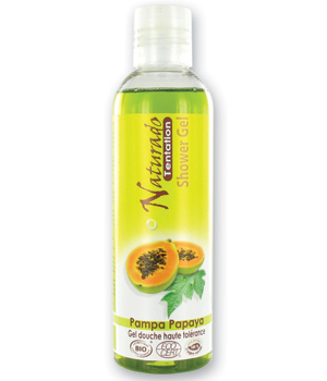 Naturado Gel douche Pampa Papaya Papaye du Brésil 200ml