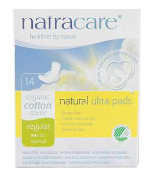 Natracare 14 Serviettes ultra minces à ailettes