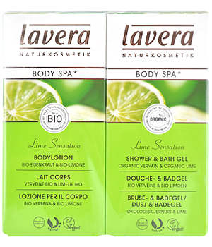 Lavera Gel douche Bain + lait corporel Verveine Limette Body SPA 2X150ml