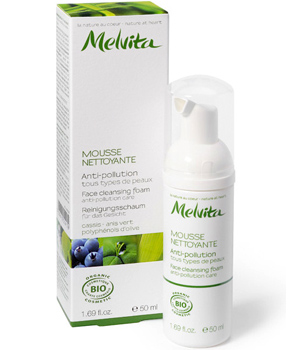 Melvita Mousse nettoyante, soin anti pollution 50ml