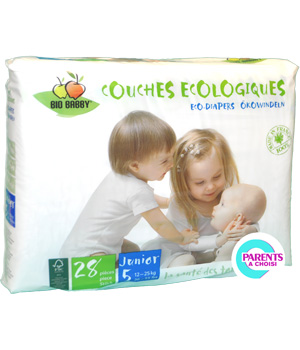 Bio Babby 28 couches Junior 12 à 25kg