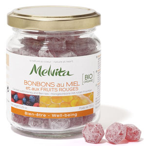 Melvita Bonbons Miel et fruits rouges 150g