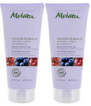 Melvita Duo douche Beauté Cassis Cranberry Grenade fruité 2 X200ml