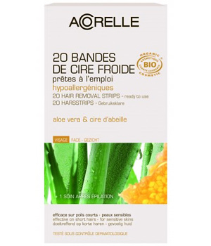 20 cold Beeswax Aloe strips for face + 1 after-epi