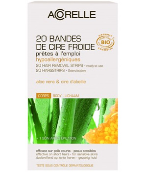 20 cold Beeswax Aloe strips for body + 1 after-epi