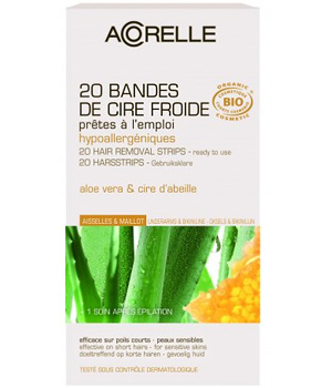 20 cold Beeswax Aloe strips for armpits & bikini +