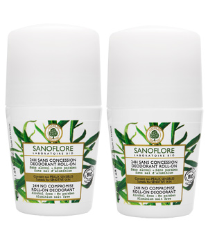 Sanoflore Lot de 2 Déodorants 24h sans concession 50ml