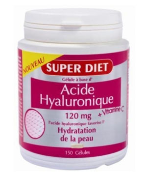 SuperDiet Acide hyaluronique + vitamine C 150 gélules